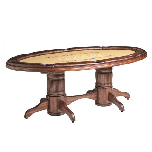 Texas Hold'em Game Table w/ Optional Dining Top