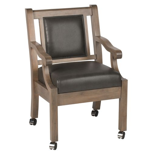 Duke Club Chair w/ Casters