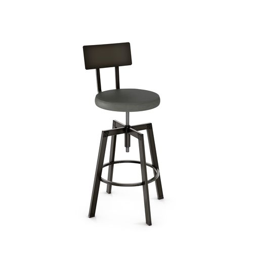 Architect Screw Stool with Backrest