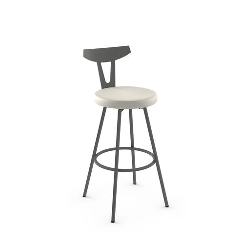 Hans Swivel Stool with Backrest