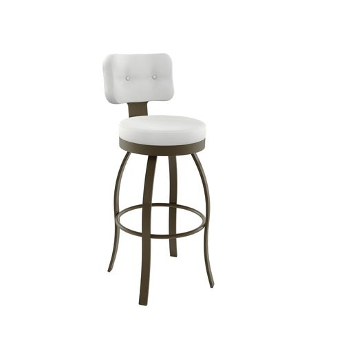 Swan Swivel Stool with Backrest