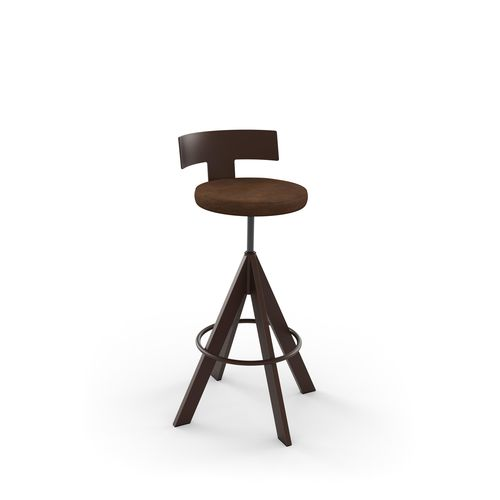 Uplift Screw Stool with Backrest