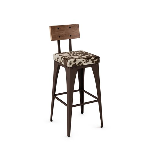 Upright Non Swivel Stool with Backrest
