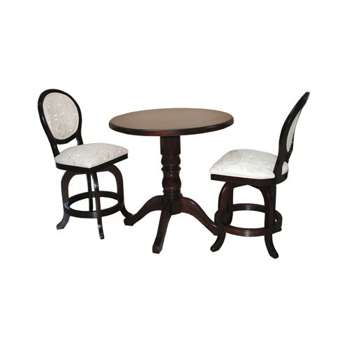 3 Piece 500 Barstools Wood Table Pub Set
