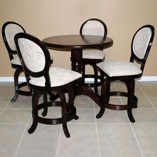 5 Piece 500 Barstools Wood Table Pub Set