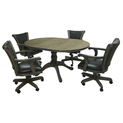 Caribean Caster Chairs Wood Table Pub Set